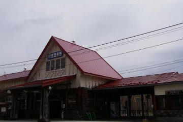 Kawayu-Onsen Station on JR's Semmo Line