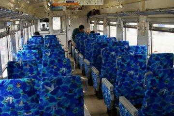 Comfortable train interior makes for a pleasant journey