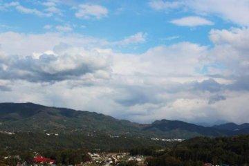 일본 군마현,배려심이 돋보이는 산 속에 작은 손소바집