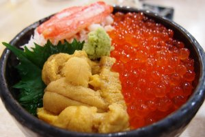 Salmon Roe and Sea Urchin Rice Bowl