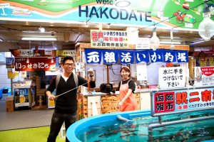 Jo's catch of the day at Hakodate Fish Market