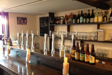 On an average day there are 6 to 8 varieties of beer on tap