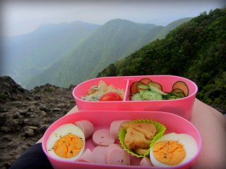 Packing a bento is a good idea, although there are two mountain shops that sell simple food and souvenirs
