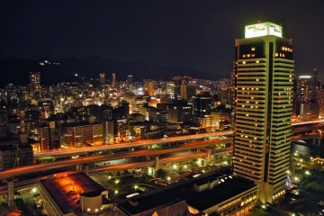 Hotel Okura and the highway view