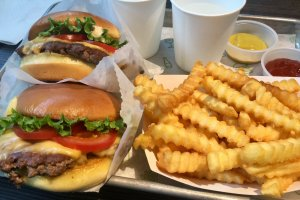 The classic Shake Shack meal.