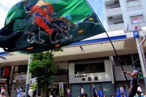 すごく大きい旗だ!
