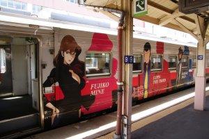 Lupin III menghiasi kereta JR Hokkaido