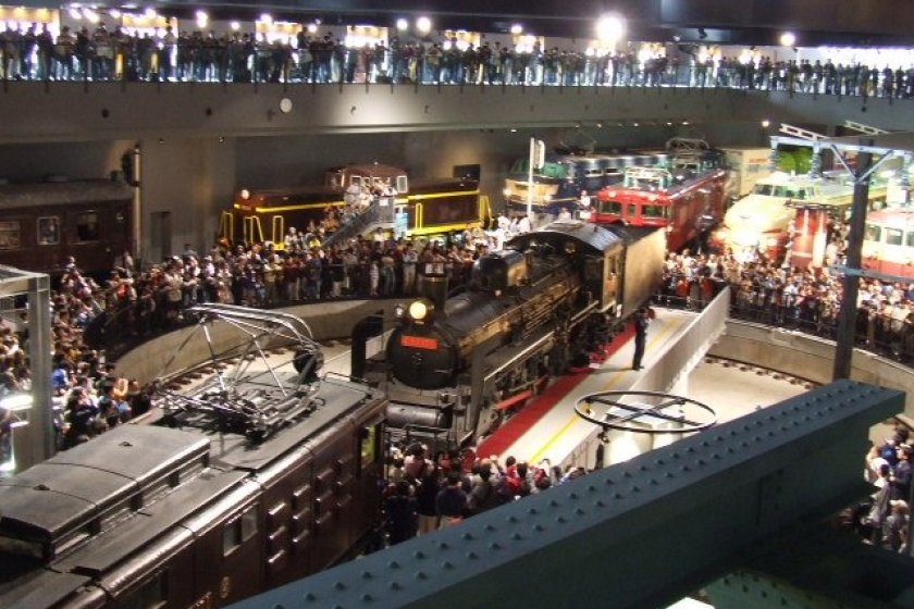 View from the second floor, Railway Museum