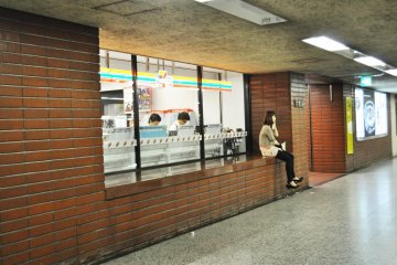The Seven Eleven inside the station