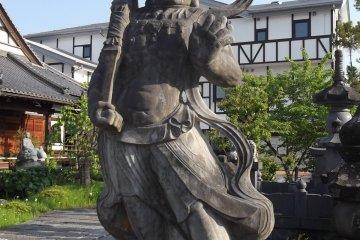 A guardian demon at Ryuko-ji