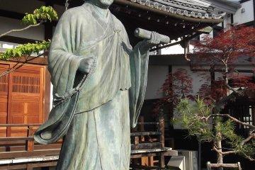 A Buddhist scholar (I imagine) at Ryuko-ji