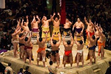 Dohyo-iri ring entering ceremony