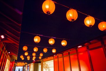 Iconic Japanese vermilion lanterns