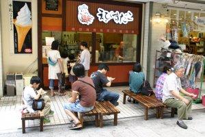 Ebisu Dako is a popular takoyaki shop.