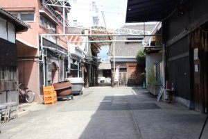 Visite de la brasserie Nadagiku à Himeji.