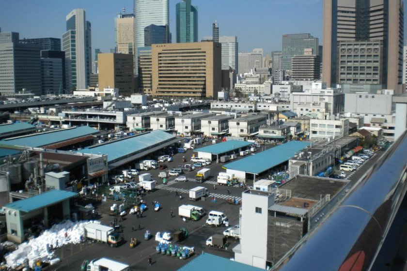 Tsukiji Market from the roof
