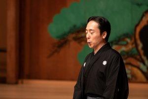 Teruhisa Oshima demonstrates Noh singing