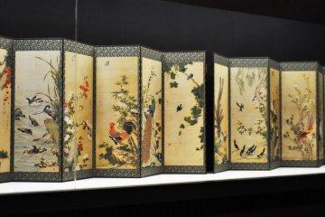 Japanese folding screens.