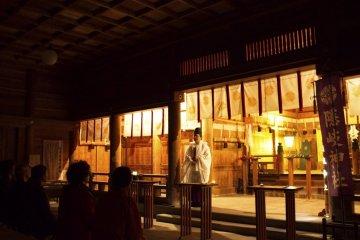 隱岐神社的夜晚參拜活動