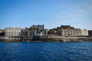 Hashima Island from cruise boat