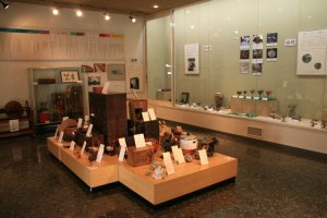 The museums' adjoining room contains items of daily life.