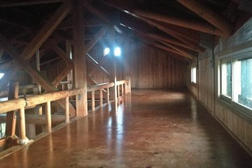 Inside the mountain hut