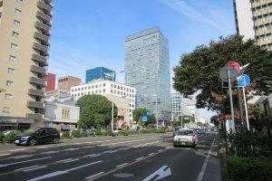 Улица Хигаси-ни-бантё, где проходил перед в честь Юзуру Ханью