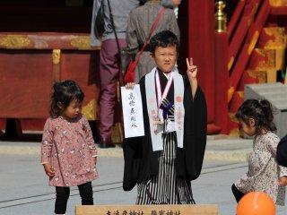 Мальчик после церемонии