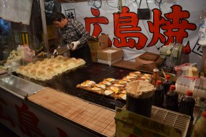 There are plenty of food booths in the streets surrounding the temple, so you won't go hungry