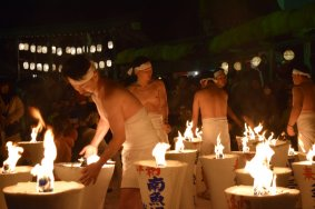 Urasa Naked Man Pushing Festival