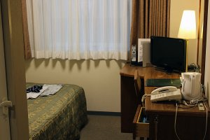 Clean and efficient rooms are available at Hotel Asia Center of Japan.