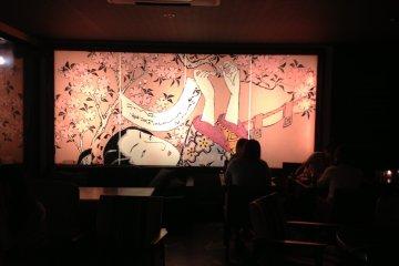 Nihon-ga on the wall