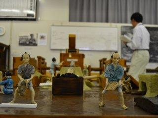 Diorama yang menceritakan proses pembuatan besi di Kuji pada Priode Edo (1605 - 1868).