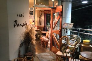 Entrance to Cafe Pensee