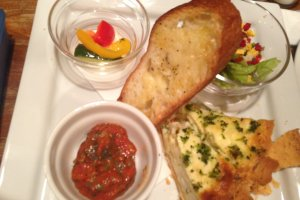 Quiche plate with Ratatouille and Pickles