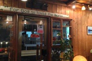 John 3:16 banner at J-Lodge