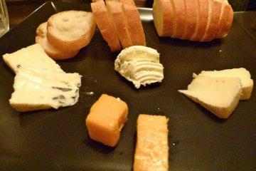 "Cheese ""Moriawase"" platter"