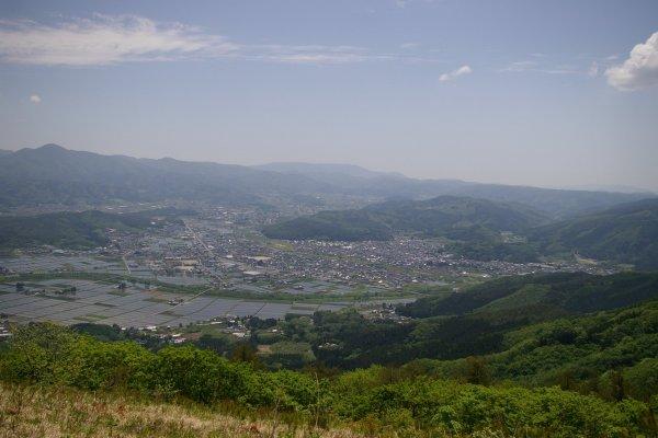 The view of Tono from Mt. Takashimizu