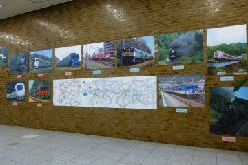 Историческая фотовыставка о поездах JR