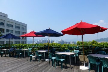 The sky deck on Pacela's top floor is a great place to enjoy the afternoon breeze