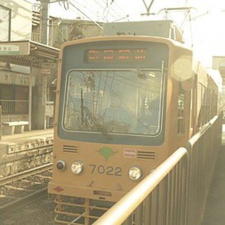 冬陽的叮叮荒川路面電車