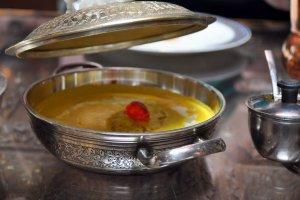 Cheese kofta in a beautiful silver bowl