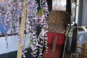 rickshaw on display