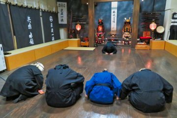 Bowing before and after Ninja Training
