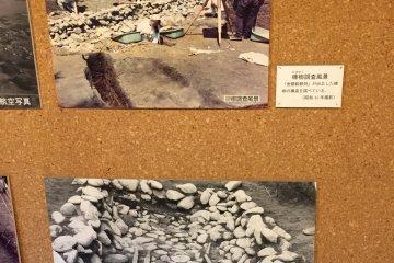 Museum photos of the 1968 Inariyama tumulus excavation