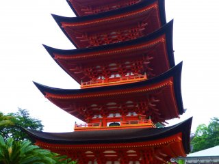 Each different angle gives its own unique view of the pagoda
