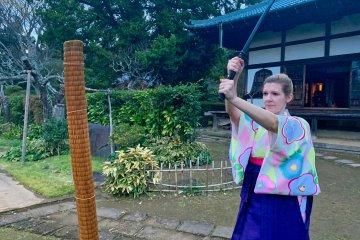 Actual sword training Samurai Project