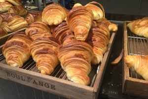 Croissants, a staple of every French bakery.