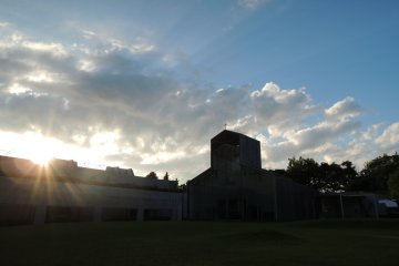 Chapel with the setting sun