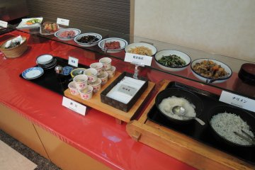 All you can eat Japanese food for breakfast